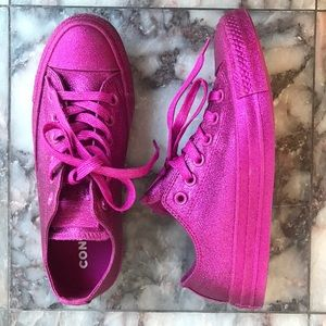 Converse Glitter Blasted Low Top Size 7
